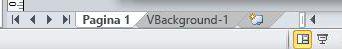 Linguette delle pagine con pagina VBackground