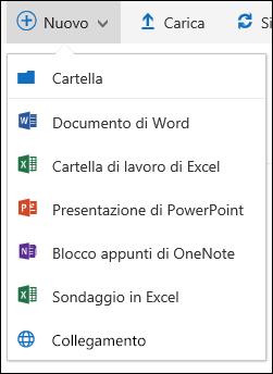Office 365 - Creare una nuova cartella o un documento