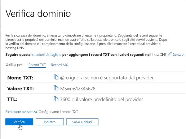 Verifica del dominio OVH in Office 365_C3_201769202357