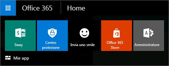 Icona di avvio delle app per la nuova interfaccia di amministrazione