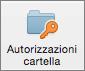 Pulsante Autorizzazioni cartella in Outlook 2016 per Mac