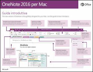 Guida introduttiva di OneNote 2016 per Mac