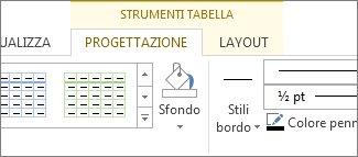 Posizione di Strumenti tabella
