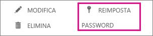 Reimpostare le password per più utenti.