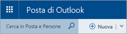Barra dei menu in Posta di Outlook