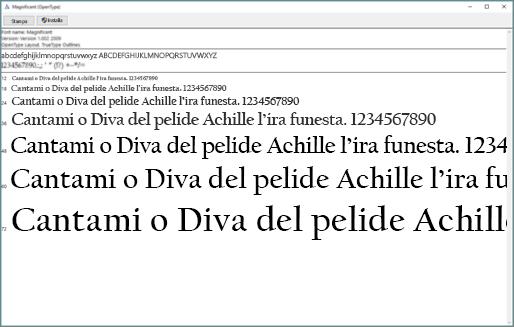 L'anteprima caratteri di Windows consente di visualizzare e installare i caratteri in un computer Windows