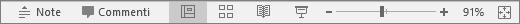 Mostra i pulsanti delle visualizzazioni nella parte inferiore della schermata in PowerPoint