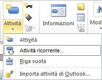 Immagine menu Inserisci attività.