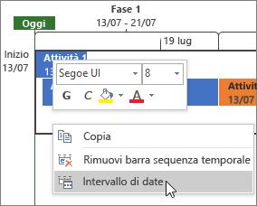 Intervallo di date