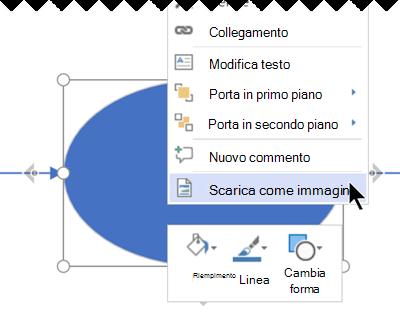 Fare clic con il pulsante destro del mouse sulla selezione e scegliere Scarica come immagine.