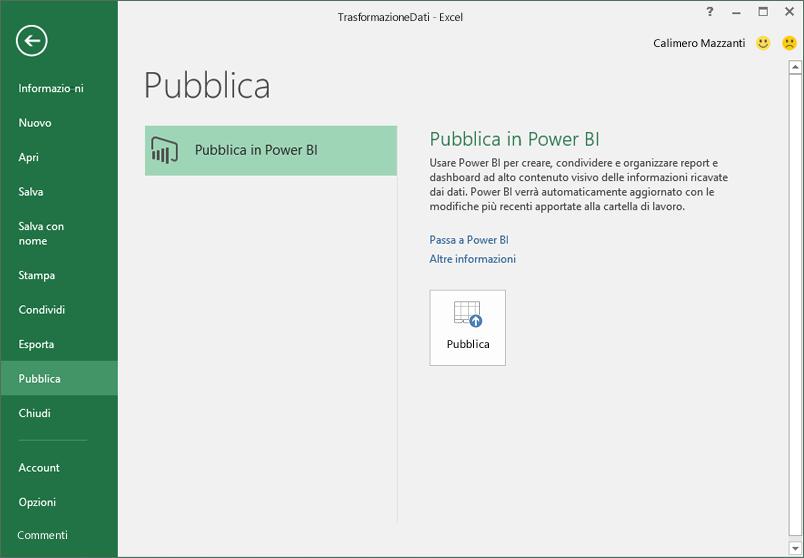 Pubblica in Power BI