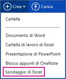 Crea Sondaggio di Excel