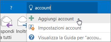 Guida introduttiva per i dipendenti: aggiungere un account di Outlook