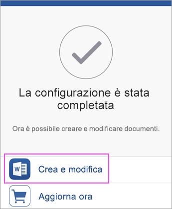 Toccare Crea e Modifica per iniziare a usare l'app.