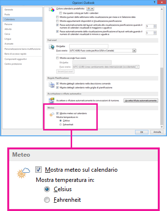 how to change outlook to celsius