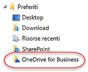 Elenco Preferiti per OneDrive for Business in SP2016