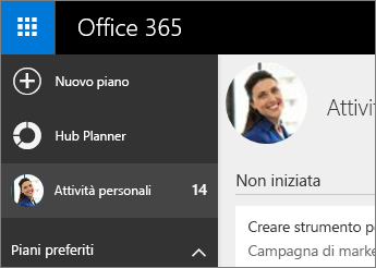 Hub Planner e Attività personali