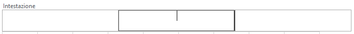 Mostra l'intestazione sulla riga 1.