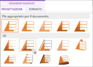 Applicare uno stile SmartArt