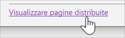 Pulsante Visualizza distribuzione pagine