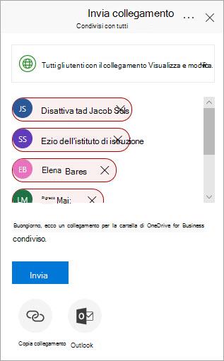 Finestra di dialogo mappa nel sito Web Office 365