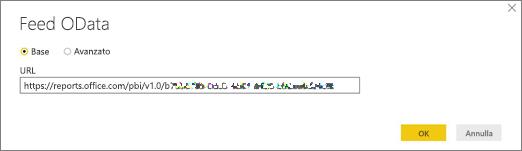 URL del feed OData per Power BI Desktop