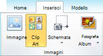 Come aggiungere un'immagine ClipArt in Office 2010 e 2007 apps