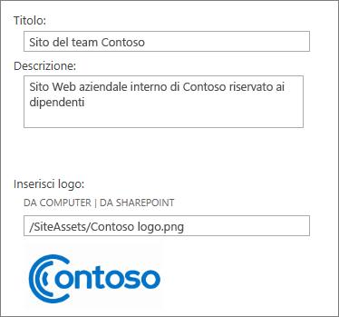 Immagine della finestra di dialogo Campi personalizzati