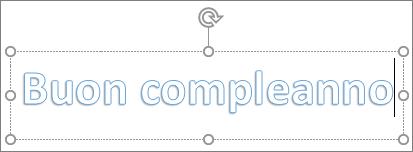 WordArt con testo personalizzato