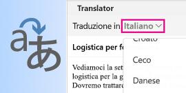 Translator di Outlook per Mac
