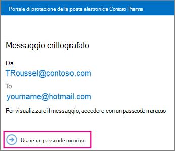 Una volta passcode