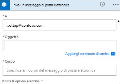 Screenshot: Scegliere un oggetto