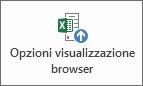 Pulsante Opzioni visualizzazione browser