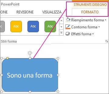 Modificare i colori di una casella di testo o di una forma for Disegno una finestra testo