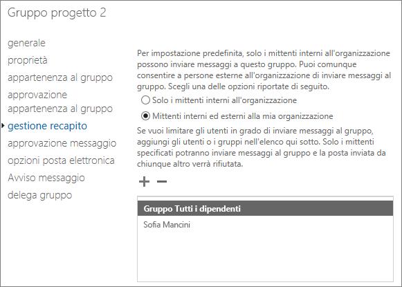 Aggiungere un mittente esterno consentito al gruppo di distribuzione per risolvere il rapporto di mancato recapito (NDR) 5.7.133