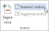 Inserisci indice