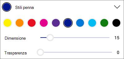 OneDrive per gli stili penna di markup PDF per Android