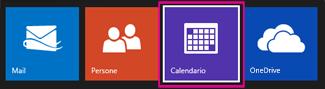 Nel menu principale di Outlook.com selezionare Calendario