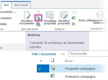Archiviazione file