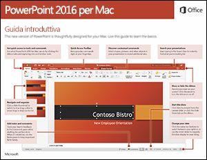 Guida introduttiva di PowerPoint 2016 per Mac