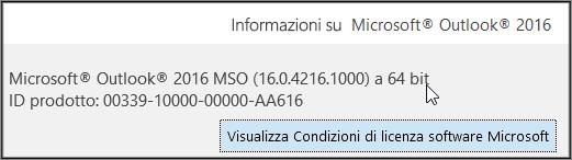 Nella parte alta della finestra è indicato se si usa la versione a 32 bit o a 64 bit.