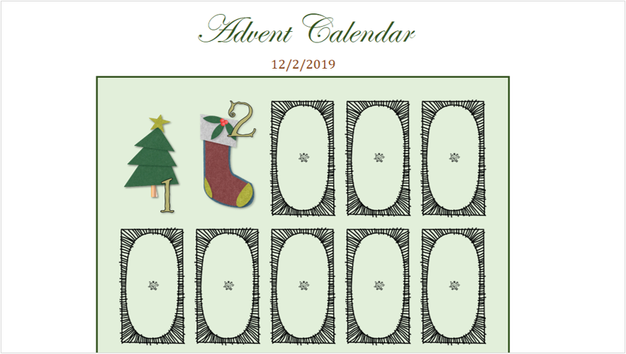 Immagine di un calendario per l'avvento digitale