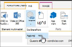 Inserire un collegamento con un indirizzo Web