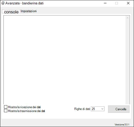 Scheda console delle impostazioni avanzate del componente aggiuntivo flusso di dati di Excel