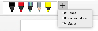 Penne in Word per Mac