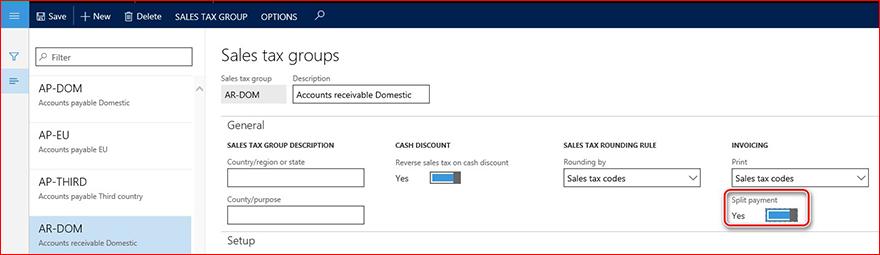 Questa immagine viene illustrato come attivare il parametro di pagamento di divisione.
