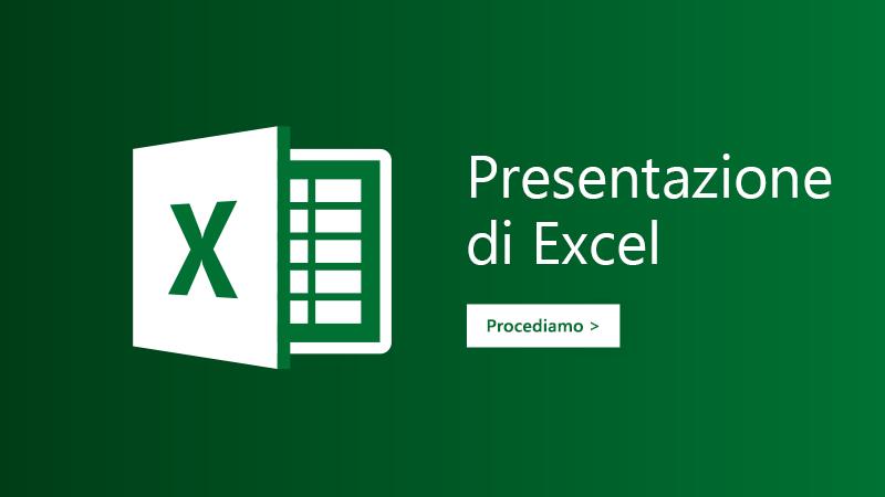Modello Presentazione per Excel