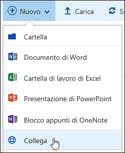 Aggiungere un collegamento a una raccolta documenti