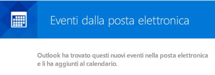 Outlook può creare eventi dai messaggi di posta elettronica