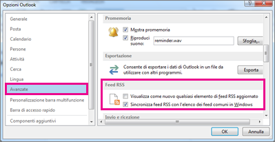 Sincronizzare un feed RSS